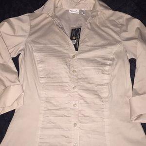 Cream Colored Tuxedo Shirt